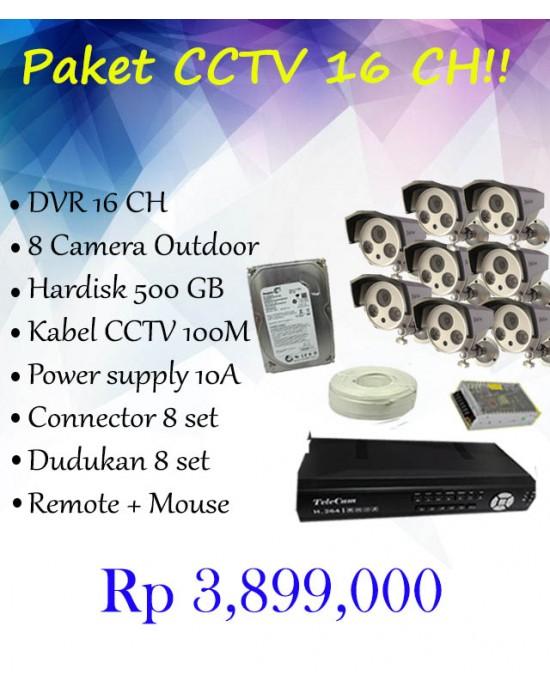 [Paket] Telecam 16CH 8 CAM DVR 91604
