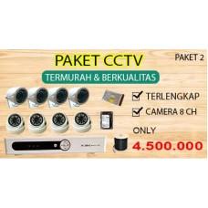 [PAKET 2] PAKET CCTV TERLENGKAP SIAP PASANG 8 CHANNEL 2MP 1080P HD TERMURAH
