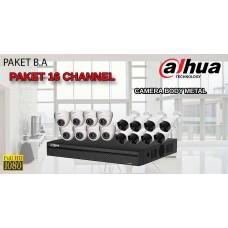 [PAKET B.A] PAKET CCTV TERLENGKAP SIAP PASANG DAHUA 16 CHANNEL 2MP 1080P HD BODY METAL TERMURAH
