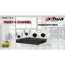 [PAKET B.A] PAKET CCTV TERLENGKAP SIAP PASANG DAHUA 4 CHANNEL 2MP 1080P HD BODY METAL TERMURAH