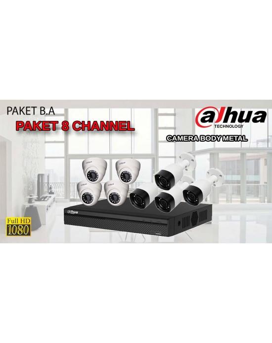 [PAKET B.A] PAKET CCTV TERLENGKAP SIAP PASANG DAHUA 8 CHANNEL 2MP 1080P HD BODY METAL TERMURAH