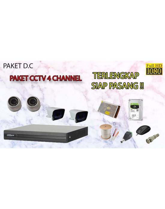 [PAKET D.C] PAKET CCTV TERLENGKAP SIAP PASANG DAHUA 4 CHANNEL 2MP 1080P HD TERMURAH