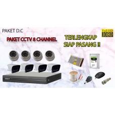 [PAKET D.C] PAKET CCTV TERLENGKAP SIAP PASANG DAHUA 8 CHANNEL 2MP 1080P HD TERMURAH