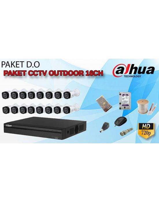 [PAKET D.O] PAKET CCTV TERLENGKAP SIAP PASANG OUTDOOR DAHUA 16 CHANNEL 720P HD TERMURAH