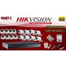[PAKET C] PAKET CCTV TERLENGKAP SIAP PASANG HIKVISION 16 CHANNEL 2MP 1080P HD TERMURAH