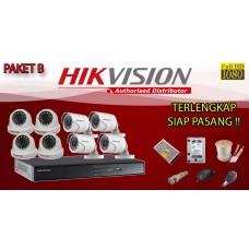[PAKET B] PAKET CCTV TERLENGKAP SIAP PASANG  HIKVISION 8 CHANNEL 2MP 1080P HD TERMURAH