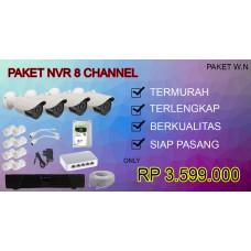 [PAKET W.N] PAKET NVR CCTV TERLENGKAP SIAP PASANG 8 CHANNEL TERMURAH
