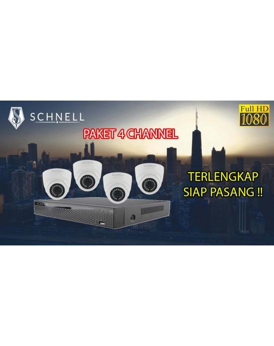 [PAKET SCH] PAKET CCTV TERLENGKAP SIAP PASANG SCHNELL INDOOR 4 CHANNEL 2MP 1080P HD MURAH