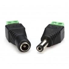 Jack DC Skrup Sepasang (Male dan Female) - connector cctv
