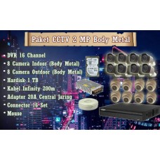 [Paket] CCTV 2 MP Body Metal (November Sale)