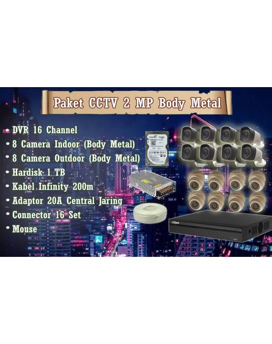 [Paket] CCTV 2 MP Body Metal (November Sale)