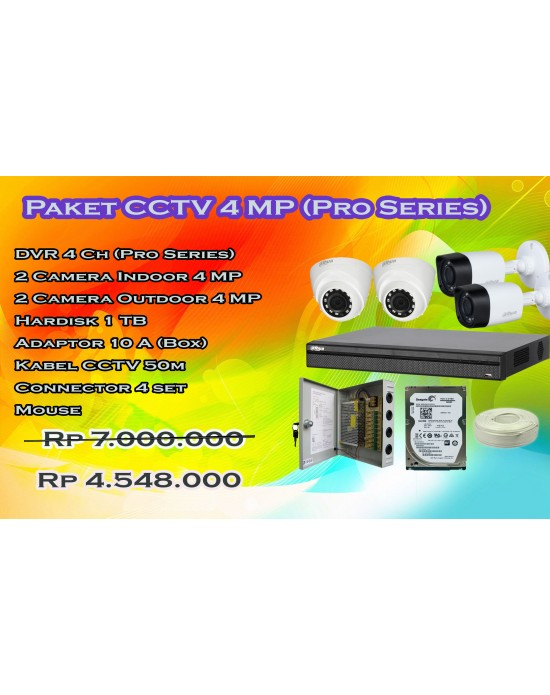 Paket CCTV Dahua Pro 4ch  upto 8mp (Flash Sale November)