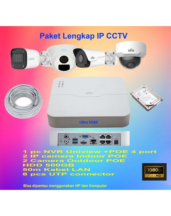 Paket CCTV IP Camera UNV  (Flash Sale 11.11)